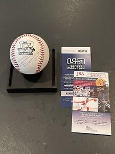 "Ronald Acuna Jr. Braves Autographed Signed ""2018 NL ROY"" Logo Baseball JSA Auth"