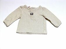 Red by Marc Ecko LS Pin Dot Flower Ivory Top, 3 mos.
