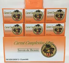 Carrot Complexion Soap with Carrot Oil 12 Bars