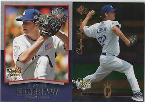 2008 UD Timeline Baseball Rookie Lot #98 and #358: Clayton Kershaw LA Dodgers
