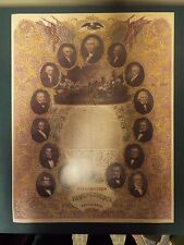 "17"" x 22"" Facsimile Declaration of Independence with Portraits of the Presidents"