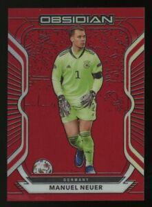 2020-21 Panini Obsidian Red Flood TMALL Asia Soccer #1 Manuel Neuer Germany /28