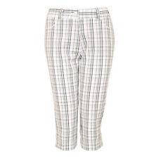 New Green Lamb Tech Performance Check Pedal Pusher Shorts Trousers