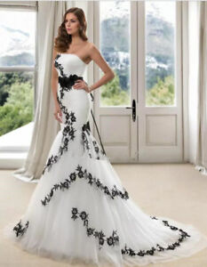 Sexy Mermaid Wedding Dresses Bridal Gowns with Court Train Appliques 2019 Custom