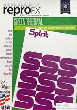 10x EU Matritzenpapier SPIRIT GREEN Thermokopierer TATTOO VORLAGE - INKgrafiX®A4