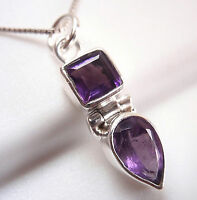Faceted Amethyst 925 Sterling Silver Pendant Corona Sun Jewelry