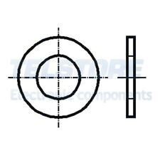 100pcs  Rondella rotonda M3,5 D=8mm h=0,5mm acciaio INOX A4 DIN 125A BOSSARD