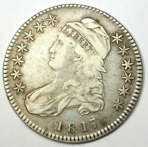 1817 Capped Bust Half Dollar 50C Coin - VF Details - Rare Date!