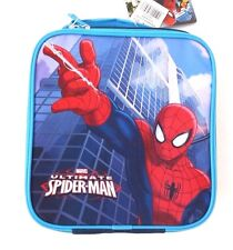 """Marvel Ultimate Spider-Man Insulated Lunchbag Lunchbox 11"""" Diagonal NWT"""
