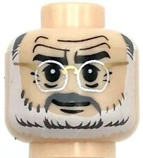 Lego New Light Flesh Minifigure Head Glasses with Silver Glasses Piece