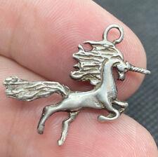 Vintage Sterling Silver 925 Unicorn 3D Detailed Mythological Charm Pendant