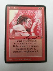 Blood Lust Legends Ed Signed by Anson Maddocks Magic the Gathering