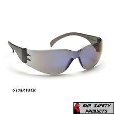 6 Pair Pyramex Intruder Safety Glasses Blue Mirror Lens Sunglasses S4175s