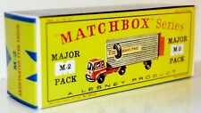 "Matchbox Lesney M2  BEDFORD TK ""DAVIES TYRES"" FREIGHT empty Repro style  D Box"