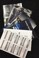 Brand New Range Rover Evoque Owners HandBook And Leather Wallet *spanish*