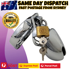 Stainless Steel Male Chastity Kit Penis Cock Cage Bondage Restraint Sex Toy NEW