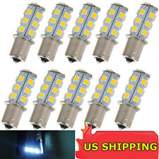 10 X Warm White 1156 BA15S LED 18-SMD Light bulbs Tail Backup RV Camper 12V Sale