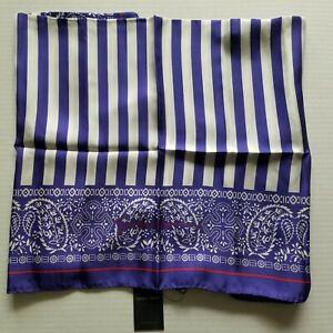 "Emporio Armani Womens Purple 34"" x 34"" 100% Silk Scarf NWT MSRP $575"