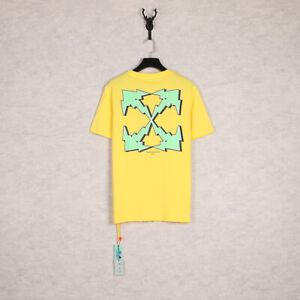 For OFF WHITE VIRGIL ABLOH Irregular Green Arrow Printed Men Women T-shirt