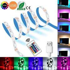 200CM USB LED Strip Lights 5050 RGB TV LED Strip White PCB + Remote Controller