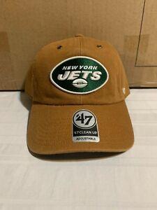 New York Jets NFL '47 Brand Carhartt Mens Brown Clean Up Adjustable Hat