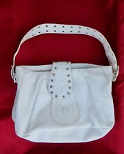 ROXX NEW YORK Designer Handbag White Satchel Purse Handbag Medium 100% Leather