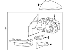 TOYOTA 8794542160B1 GENUINE OEM MIRROR COVER