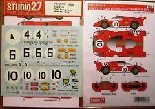 DECAL: 1/24 S271123 1970 GELO RACING TEAM FERRARI 512S