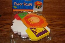 Jungle Animals Favor Boxes #6 (Six) Birthday Treat Boxes, Favor, Loot Boxes