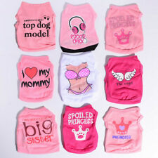 9PCS Lot Girl Bundle Dog Clothes Dog T shirt Pet Puppy Vest Size XS Small Medium