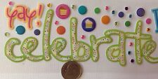 CELEBRATE TITLE EPOXY STICKER (46pc)Birthday•Party•Decorations•Baby Shower•Stone