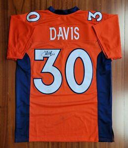 Terrell Davis Autographed Signed Jersey Denver Broncos JSA