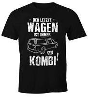 Sarkastisches Herren T-Shirt Der letzte Wagen ist immer ein Kombi Fun-Shirt