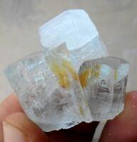 135 Carats Beautiful Lustrous Aquamarine Crystal Bunch  Specimen