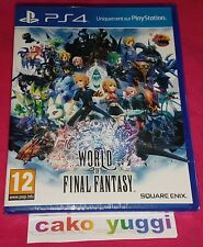 WORLD OF FINAL FANTASY SONY PS4 NEUF VERSION FRANCAISE NEUF SOUS BLISTER