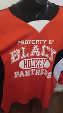 Adult Hockey Jersey 2XL, Black Panthers BLM