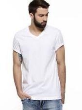 664f27fd6adfa Calvin Klein Men 3 White V-neck Undershirt Top Size L 100 Cotton O01