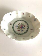 Haviland Limoges Trinket Dish White Porcelain Painted Flowers Jewelry Holder