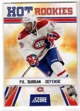 2010-11 Score #519 Hot Rookies P.K Subban Rookie Card RC Montreal Canadiens