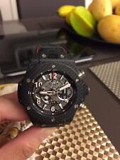 Hublot Big Bang Unico Carbon fiber Black Magic Men's Wristwatch - 411.QX.1170.RX