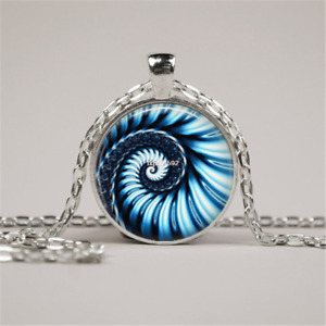 GlassTile Necklace Abstract Art GlassJewelry Abstract Jewelry Blue Pendant