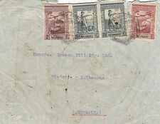 Stamps Mozambique various values on 1946 cover to Broken Hill Co Melbourne