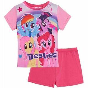 Girls My Little Pony Short Pyjamas PJs Summer Nightwear 18 24 2 3 4 5 Years Pink