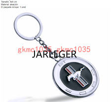 For Mustang GT Cobra Shelb Silver Chrome Pony Horse Key Chain Fob Ring Keychain