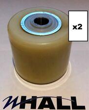 X2 BT L2000/LHM230/L23 Nylon Caricare Rullo/Ruote + cuscinetti (D82 x70mm)