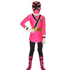 Kid child Unisex Pink Power Ranger Samurai cosplay Costume Fancy Dress Bodysuit