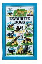 Favourite Dogs Tea Towel Spaniel Terrier Boxer Retriever Pug Labrador Shepherd