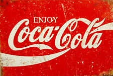 Enjoy Coca Cola new tin metal sign MAN CAVE