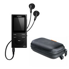 Sony NW-E393 Walkman MP3 Player (4GB, Black) with Hard Carrying Case Bundle