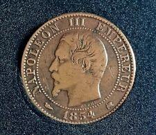 5 CENTIMES 1854 K avec Chien Napoléon III tête nue Bordeaux F.116/13 TTB